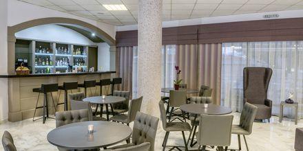 Bar på hotell Ariadne på Rethymnon kust på Kreta, Grekland.