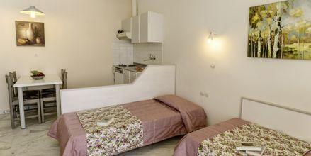 Tvårumslägenhet på hotell Ariadne på Rethymnon kust på Kreta, Grekland.