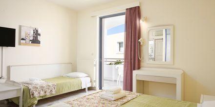 Enrumslägenhet på hotell Ariadne på Rethymnon kust på Kreta, Grekland.