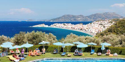 Pool på hotell Arion i Kokkari, Samos.