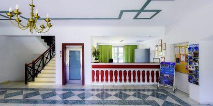 Reception på hotell Arion i Kokkari, Samos.