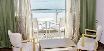 Dubbelrum på hotell Armeno Beach på Lefkas, Grekland.