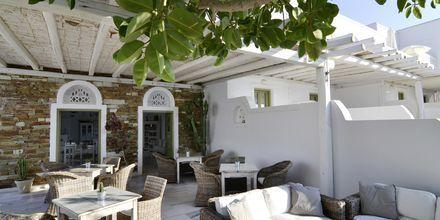 Servering på hotell Artemis på Antiparos i Grekland.