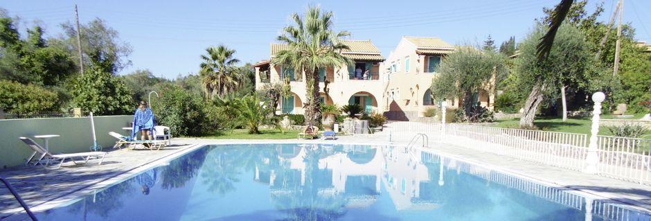 Hotell Artemis på Korfu, Grekland.