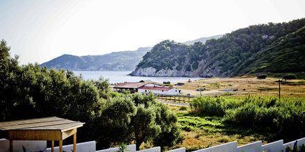 Utsikt mot havet på Aselinos Villa på Skiathos