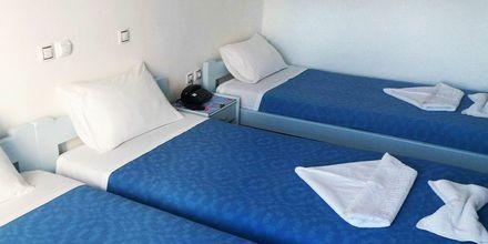 Dubbelrum på hotell Asteria i Naxos stad, Grekland.