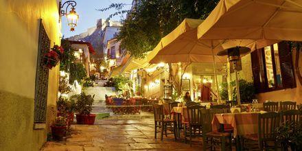 Restauranger i Plaka, Aten.