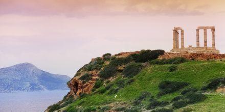 Poseidontemplet ligger ca sju mil söder om Aten.