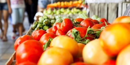 Fruktmarknad i Aten.