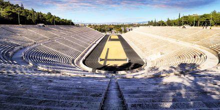 Panathinaikostadion i Aten, Grekland. Här hölls den första olympiska spelen i modern tid.