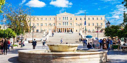 Syntagmatorget i Aten, Grekland.