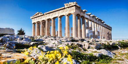 Det berömda templet Parthenon i Aten, Grekland.