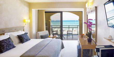 Dubbelrum på hotell Atlantis Beach i Rethymnon, Kreta.