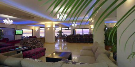 Lobbyn på hotell Atlantis Beach i Rethymnon, Kreta.