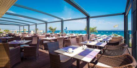 Restaurang på hotell Atlantis Beach i Rethymnon, Kreta.