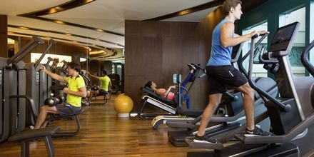 Gym på hotell Atlantis the Palm i Dubai Palm Jumeirah, Förenade Arabemiraten.