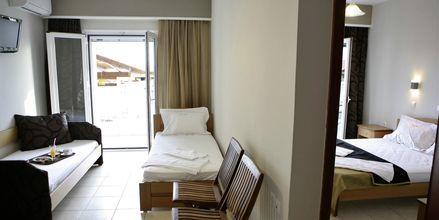 Tvårumslägenhet på hotell Atlon i Vrachos, Grekland.