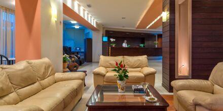 Lobby på hotell Atrion på Kreta, Grekland.