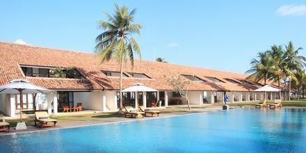 Poolområde på hotell Avani Bentota Resort & Spa i Bentota, Sri Lanka.
