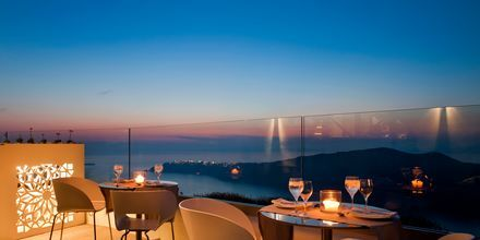 Lounge på Avaton Resort & Spa på Santorini, Grekland.
