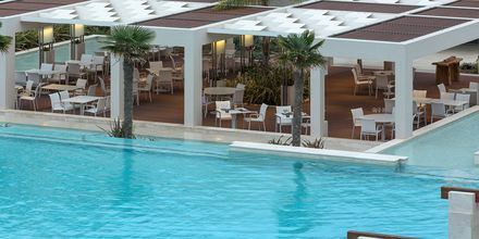 Restaurang på hotell Avra Imperial på Kreta, Grekland.