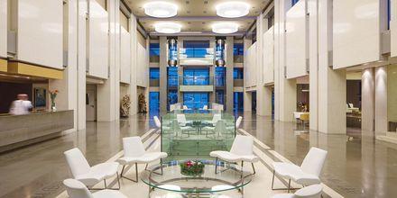 Lobby på hotell Avra Imperial på Kreta, Grekland.