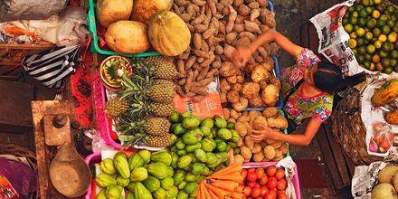Marknad på Bali.