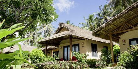 Bungalow Seafront-rum på hotell Bamboo Village Resort i Phan Thiet, Vietnam.