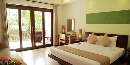 Deluxerum plus på hotell Bamboo Village Resort i Phan Thiet, Vietnam.