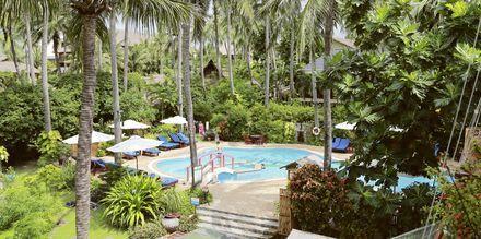 Pool på Pool på hotell Bamboo Village Resort i Phan Thiet, Vietnam.