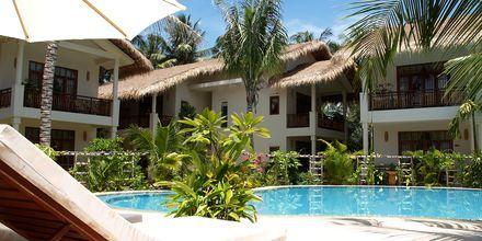 Pool på hotell Bamboo Village Resort i Phan Thiet, Vietnam.