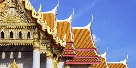 Wat Benchamabophit, också känt som Marmortemplet, i Bangkok, Thailand.