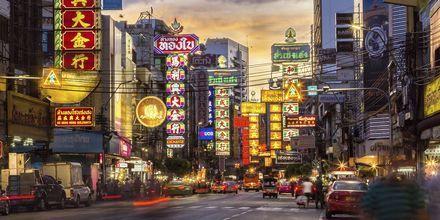 Chinatown i Bangkok, Thailand.