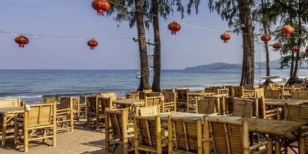 Strandrestaurang i Bangtao.