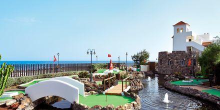 Minigolfbana på hotell Barcelo Castillo Beach Resort på Fuerteventura.