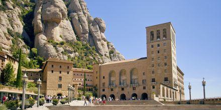 Klostret i Montserrat utanför Barcelona, Spanien.