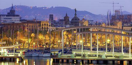 Hamnen i Barcelona, Spanien.