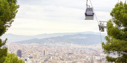 Åk Barcelonas linbana och se staden från ovan.