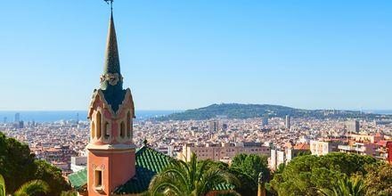 Utsikt över Gaudí House Museum och Barcelona.