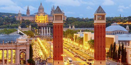 Placa de Espanya i Barcelona, Spanien.