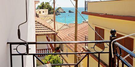 Utsikt från hotell Baywatch i Parga, Grekland.