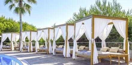 Poolområdet på Be Live Collection Palace de Muro på Mallorca, Spanien.