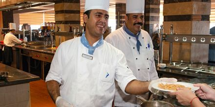 Italienska restaurangen Alfredo på hotell Beach Albatros Resort i Hurghada, Egypten.