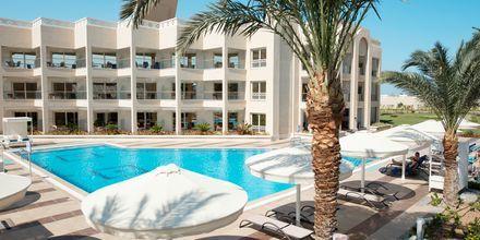 Byggnad och pool för endast Apollos gäster på hotell Beach Albatros Resort i Hurghada, Egypten.
