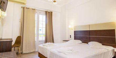 Renoverat dubbelrum på hotell Bel Air på Lefkas, Grekland.