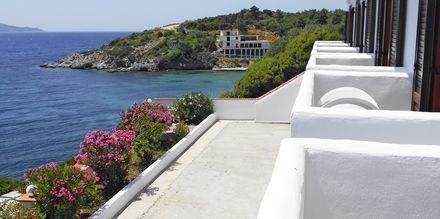 Utsikter från hotell Bella Vista på Samos i Grekland.