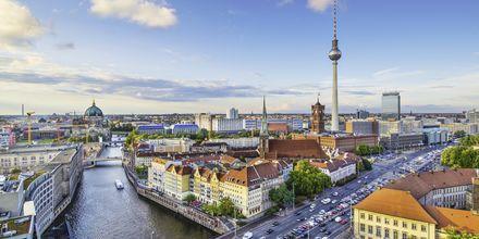 Vy över Berlin, Tyskland.