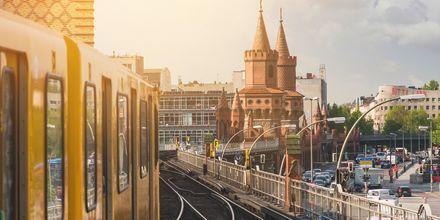 U-Bahn i Berlin, Tyskland.