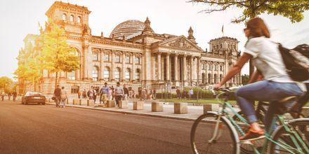 Cykelvänliga Berlin, Tyskland.