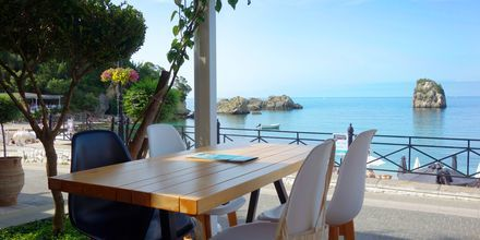 Restaurang på hotell Bianco i Parga, Grekland.